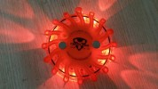 "Original Traffic Warning Lights ""Orange case + Amber LED's"""