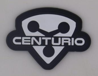Shield Patch in Black/White