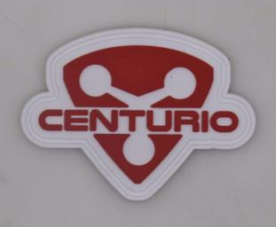 Shield Patch in Red/White
